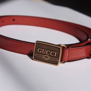 Gucci Patent Leather with Gucci Print Buckle 80 32